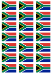 South Africa Flag Stickers - 21 per sheet